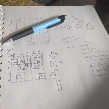 Pen and Graph Paper with Designs